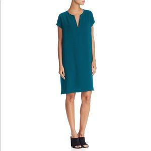 Theory Saturnina split neck shift dress NWT